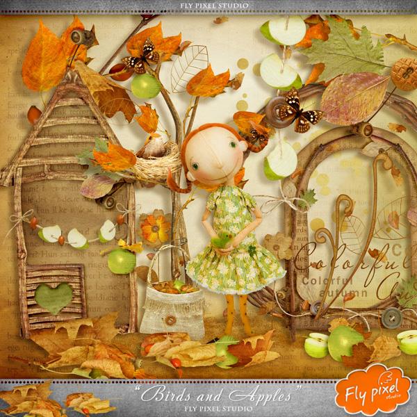 цифровой скрапбукинг, скрап набор, PSD шаблоны, картинки на прозрачном фоне, для фотошопа, осень, рукоделки василисы