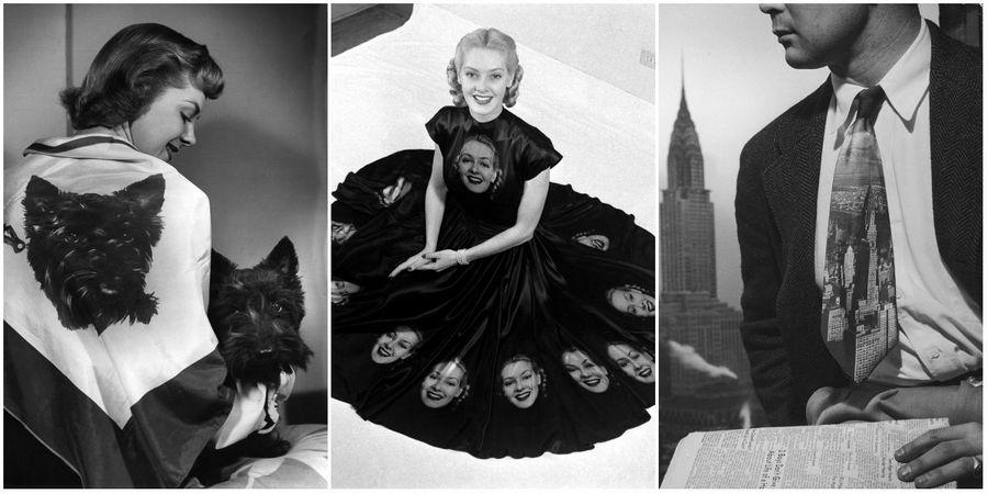 LIFE MAGAZINE 1947: ПЕЧАТЬ ФОТОГРАФИЙ НА ТКАНЯХ. Фотограф Нина Лин (Nina Leen)