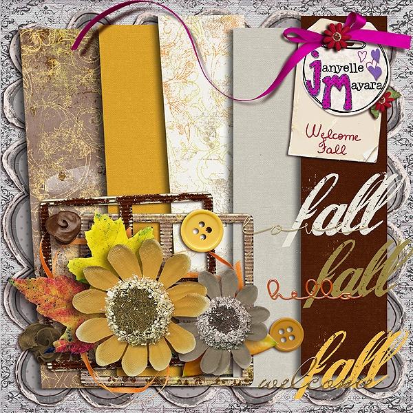 цифровой скрапбукинг, скрап набор, PSD шаблоны, цветы на прозрачном фоне, для фотошопа, осень, рукоделки василисы