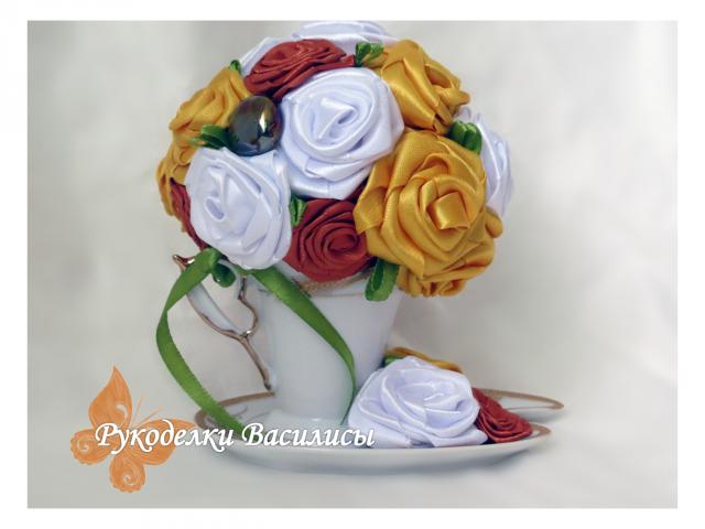 осень, подборка осенних работ DIY, рукоделки василисы, цветочные чашки, теплые оттенки